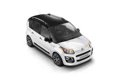 Citroën C3 Picasso SH Aussenansicht Front schräg erhöht statisch Studio weiss