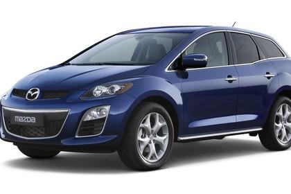 Mazda CX-7 Studio Aussenansicht Seite statisch blau