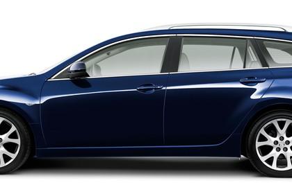 Mazda 6 Kombi GH Studio Aussenansicht Seite statisch blau