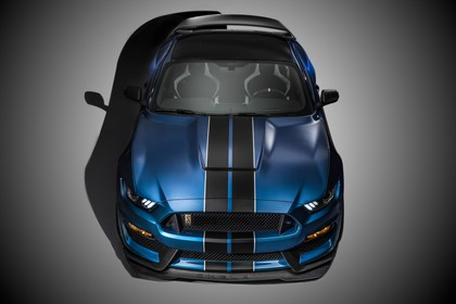 Ford Mustang Shelby GT350R Coupe LAE Aussenansicht Front statisch Studio blau