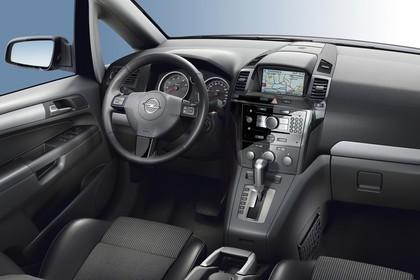 Opel Zafira B Innenansicht Beifahrerposition Studio statisch schwarz