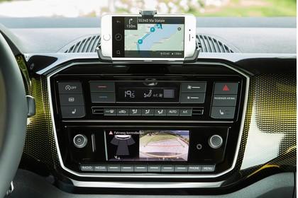 VW UP! Innenansicht Detail Multimedia statisch schwarz