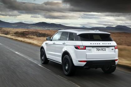 Land Rover Range Rover Evoque Coupé L538 Aussenansicht Heck schräg dynamisch weiß