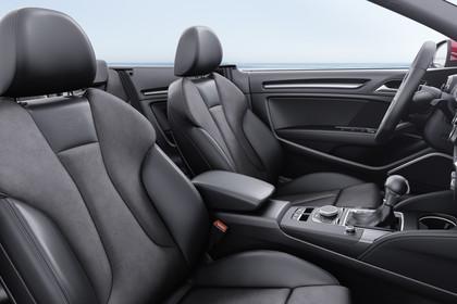 Audi A3 8V Cabrio Innenansicht Vordersitze statisch schwarz