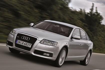 Audi A6 4f Facelift Aussenansicht Front schräg dynamisch silber