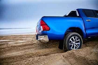 Toyota Hilux AN1P Aussenansicht Detail statisch blau Heck
