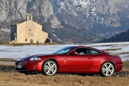 Jaguar XK Coupé X150 Aussenansicht Seite schräg statisch rot