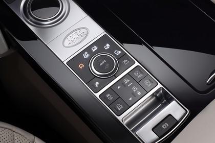Land Rover Discovery LR Innenansicht Detail statisch silber schwarz Fahrmodi