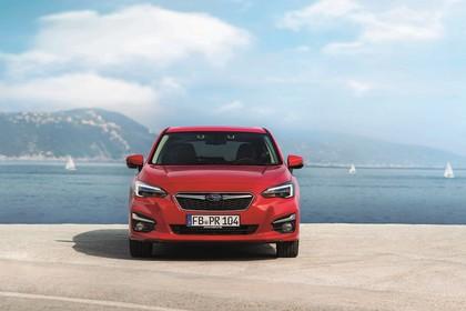 Subaru Impreza G4 Aussenansicht Front statisch rot