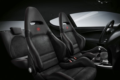 Alfa Romeo Mito 955 Innenansicht statisch Studio Rücksitze Vordersitze und Armaturenbrett beifahrerseitig