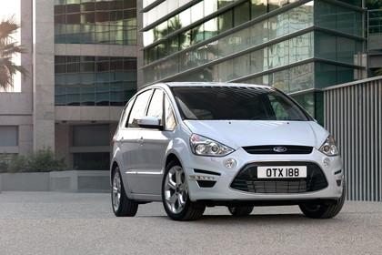 Ford S-Max I Facelift Aussenansicht Front schräg statisch weiss