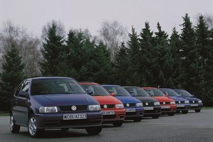 VW Polo 3 Dreitürer 6N Aussenansicht Front schräg statisch blau