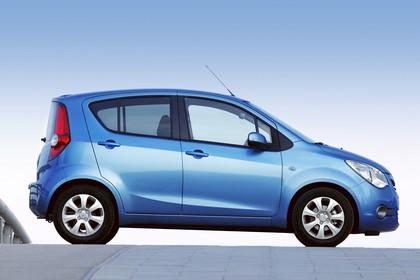 Opel Agila H-B Aussenansicht Seite statisch blau