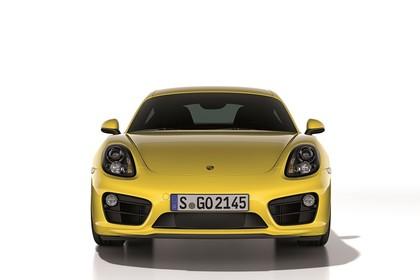 Porsche Cayman (981) Aussenansicht Front Studio statisch gelb