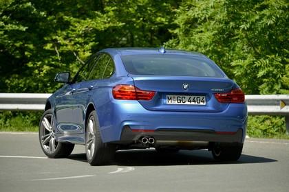 BMW 4er Gran Coupe F36 AussenansichtHeck schräg dynamisch blau