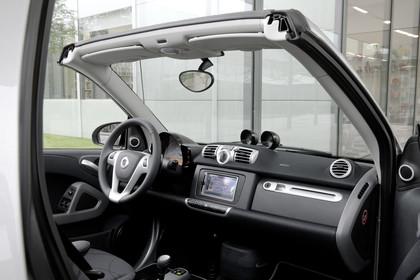 Smart Fortwo Cabrio A451 Innenansicht Beifahrerposition statisch schwarz