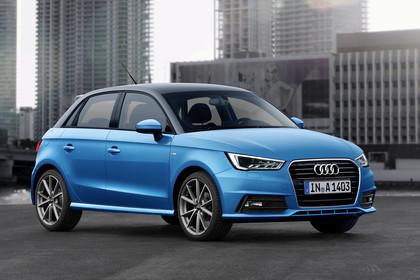 Audi A1 Sportback Aussenansicht Front schräg statisch blau