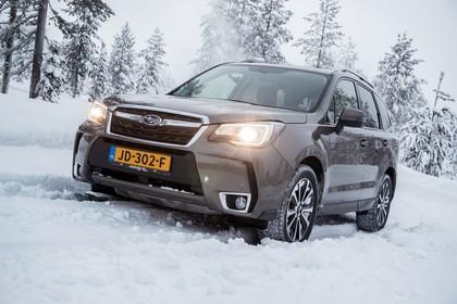 Subaru Forester IV SJ Aussenansicht Front schräg statisch braun