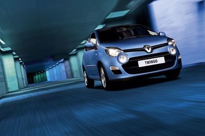 Renault Twingo N Facelift Dreitürer Aussenansicht Front schräg dynamisch blau