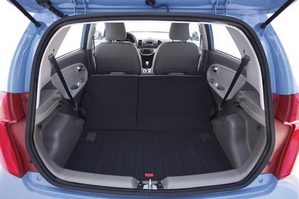 Kia Picanto TA Innenansicht Kofferraum statisch schwarz blau