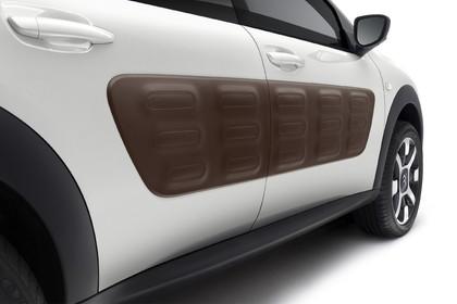 Citroën C4 Cactus Aussenansicht Seite schräg statisch Studio weiss Detail Airbump