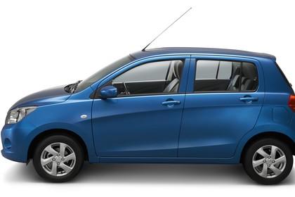 Suzuki Celerio Aussenansicht Seite statisch Studio blau
