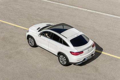 Mercedes-Benz GLE Coupe C292 Aussenansicht Heck schräg erhöht statisch weiss