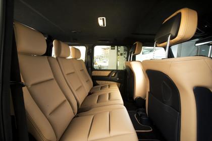 Mercedes-Benz G-Klasse W463 Innenansicht Rücksitzbank statisch beige
