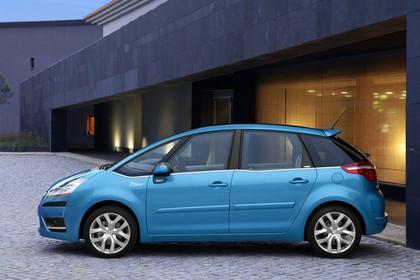 Citroën C4 Picasso U Aussenansicht Seite statisch blau