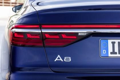Audi A8 4N Aussenansicht Heck statisch Detail Rückleuchte links