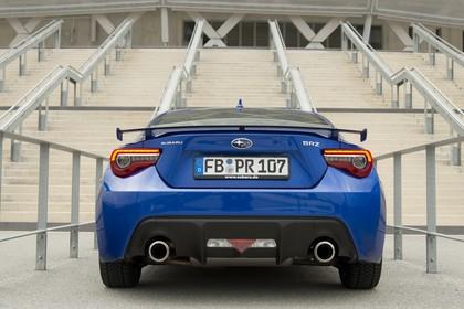 Subaru BRZ Aussenansicht Heck statisch blau