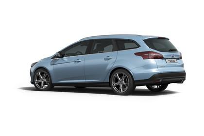 Ford Focus Turnier Mk3 Seite schräg statisch studio blau