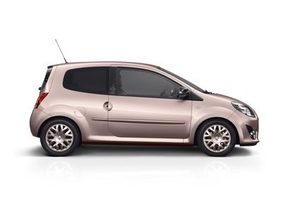 Renault Twingo N Dreitürer Aussenansicht Seite statisch Studio pink