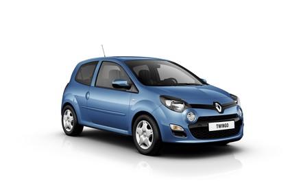 Renault Twingo N Facelift Dreitürer Aussenansicht Front schräg statisch Studio blau