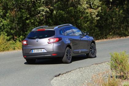 Renault Mégane Grandtourer Z Aussenansicht Heck schräg dynamisch grau