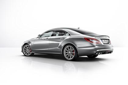 Mercedes-AMG CLS C218 Aussenansicht Heck schräg Studio statisch silber