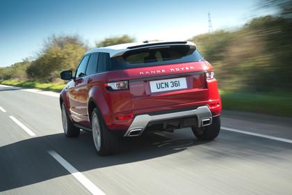 Range Rover Evoque L538 Aussenansicht Hecl dynamisch rot