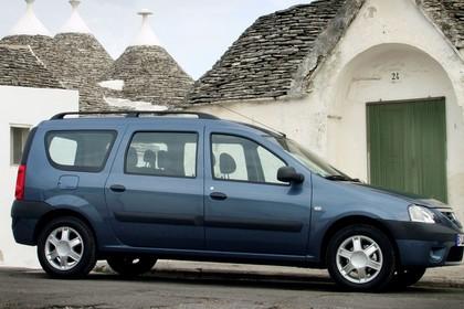 Dacia Logan MCV Aussenansicht Seite statisch blaugrau