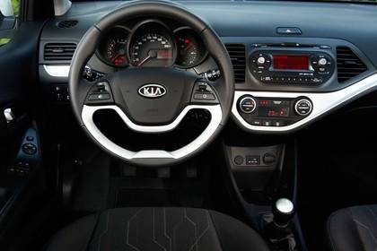 Kia Picanto TA Innenansicht Fahrerposition statisch schwarz silber