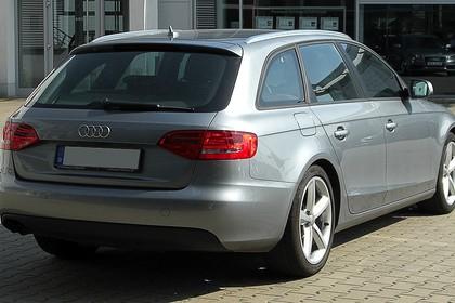 Audi A4 B8 Avant Aussenansicht Heck schräg statisch grau