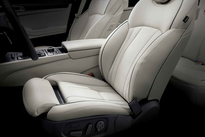 Hyundai Genesis DH Innenansicht Detail statisch beige Sitz