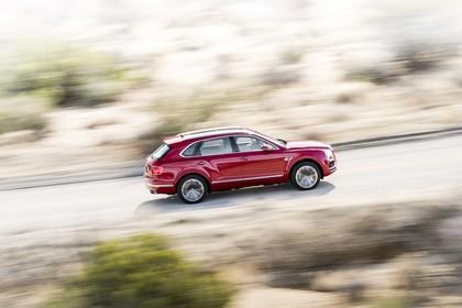 Bentley Bentayga Aussenansicht Seite dynamisch rot