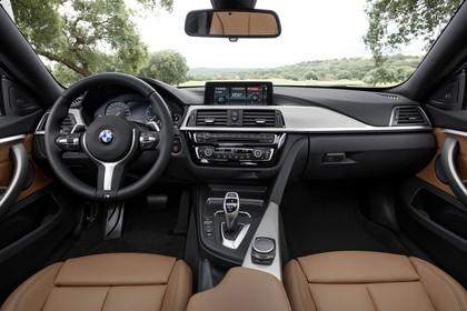BMW 4er Gran Coupe F36 Innenansicht zentral statisch braun