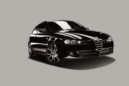 Alfa Romeo 147 Fünftürer 937 Studio Aussenansicht Front schräg statisch schwarz