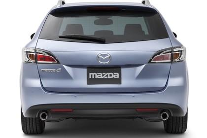 Mazda 6 Kombi GH Studio Aussenansicht Heck statisch silber
