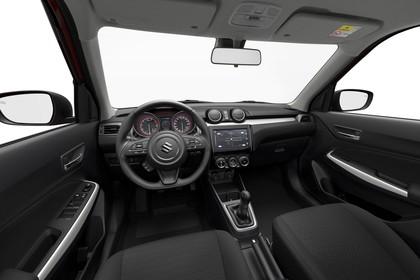 Suzuki Swift AZ Innenansicht statisch Studio Vordersitze und Armaturenbrett fahrerseitig