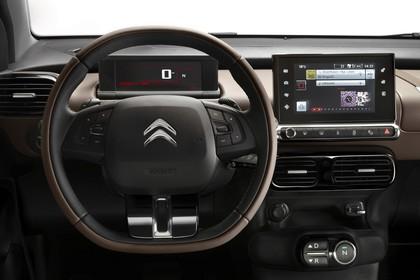 Citroën C4 Cactus Innenansicht statisch Studio Lenkrad Tacho und Armaturenbrett fahrerseitig