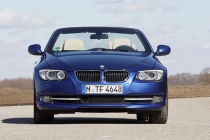 BMW 3er Cabriolet LCI Aussenansicht Front statisch blau