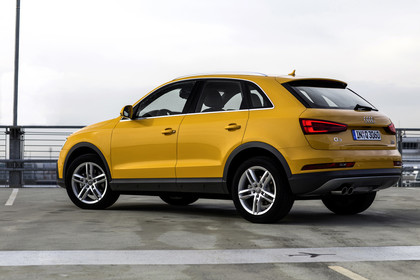 Audi Q3 Aussenansicht Seite schräg statisch gelb