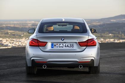 BMW 4er Gran Coupe F36 Aussenansicht Heck statisch silber